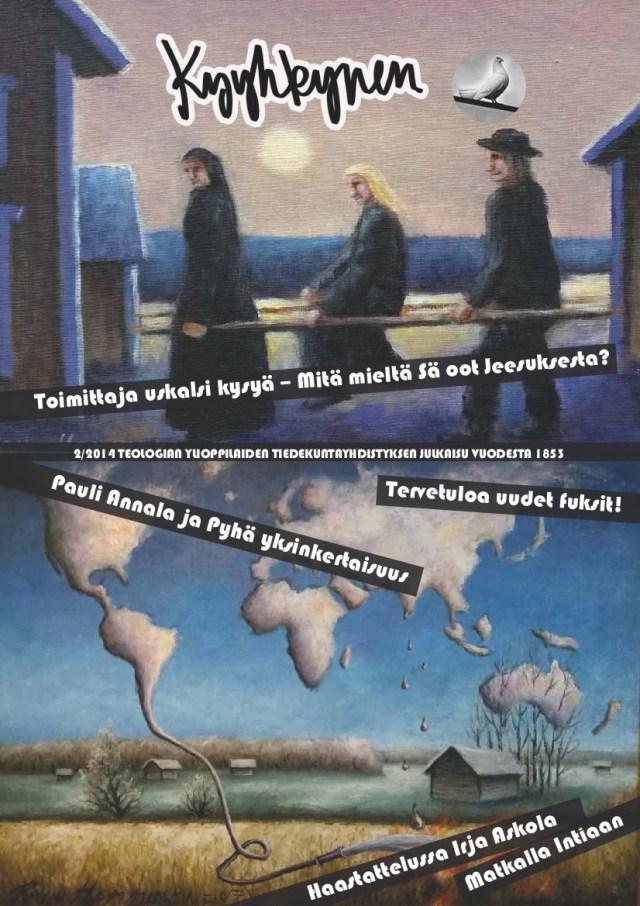Kannessa Panu Hemmingin teokset Haavoittunut körtti ja Globalisaatio saapuu Pohjanmaalle