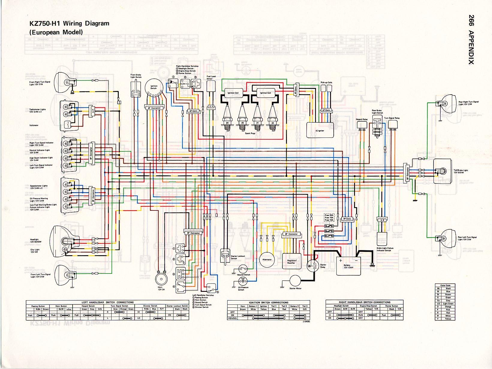 Kawasaki H1 Wiring Diagram - Wiring Diagram Database