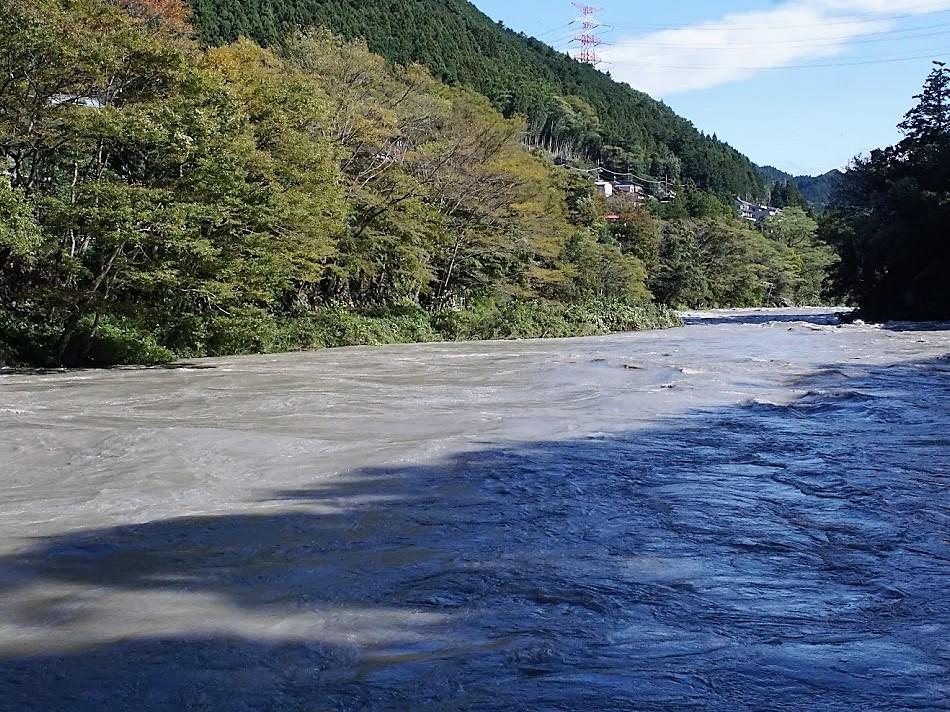 楓橋 台風 濁流