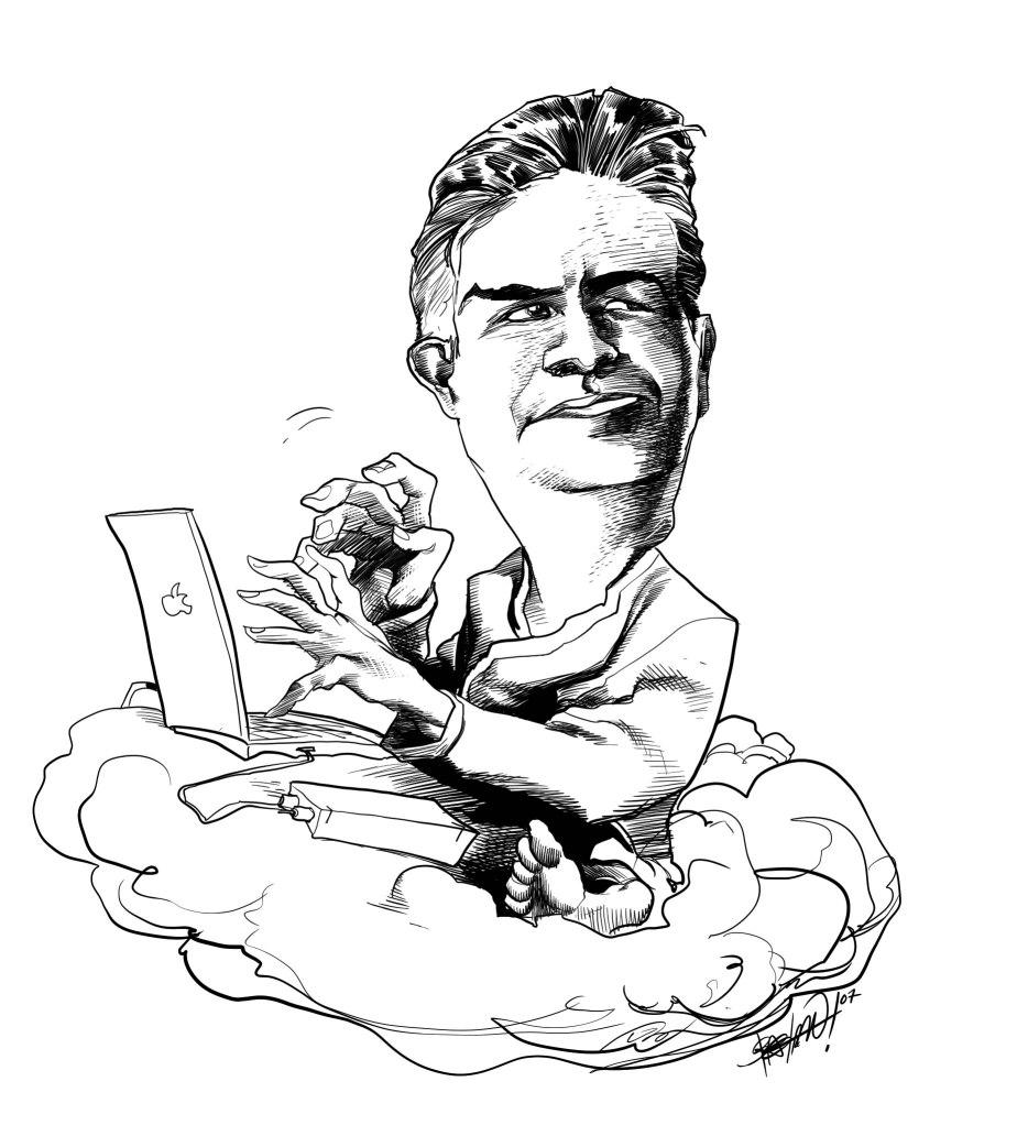 Caricatura de The KamikaZEN por Bachan