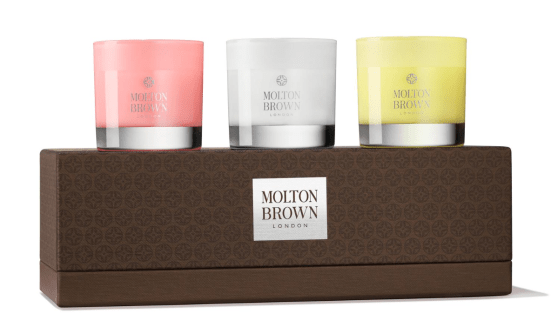 molten brown candle collection