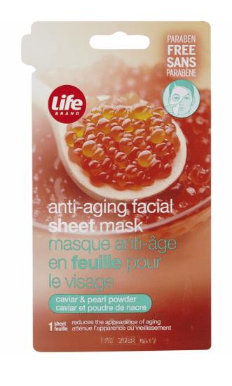 life brand caviar and pearl sheet mask