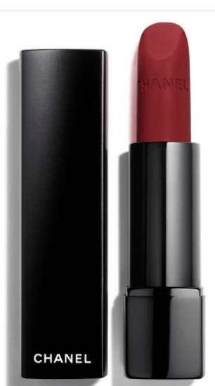 chanel velvet matte red lip
