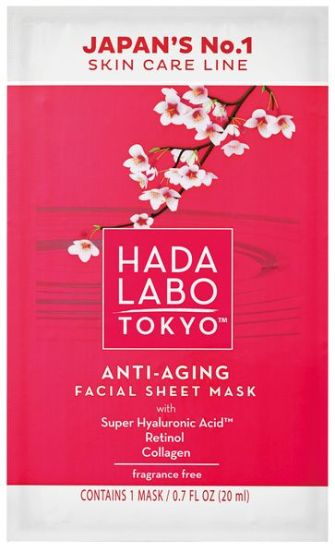 Hada Labo Anti-aging sheet mask is best pre-date skincare boost around