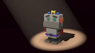 Robot en lumière
