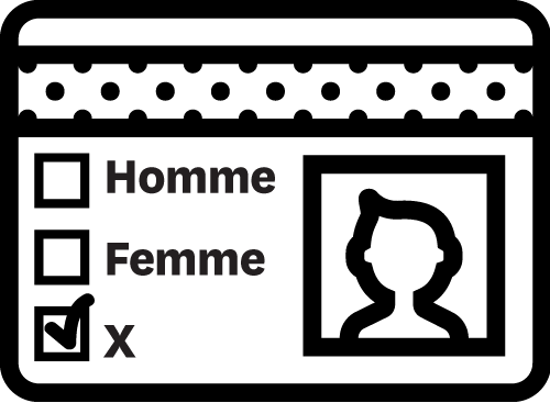 Illustration d'une permis de conduire de l'Ontario avec l'option de sexe X