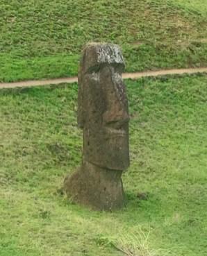 Un Moaï de l'île de Pâques.