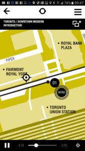 On débute le circuit Toronto/Downtown Modern à la gare Union.