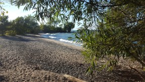 Petite plage à côté de La Grande Hermine à Jordan Harbour. (Photo: Nathalie Prézeau)