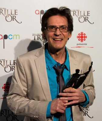 Paul Demers au gala Trille Or en 2013.