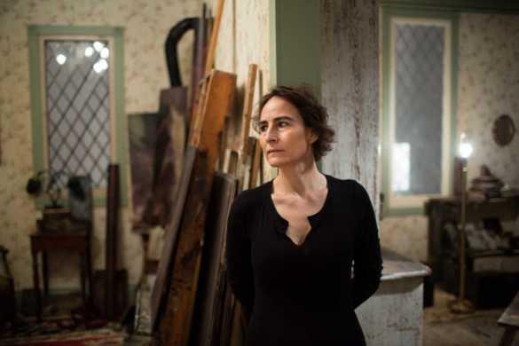 Iris Häussler dans son studio du Projet Sophie La Rosière à la AGYU. (Photo: courtoisie de Nick Kozak)
