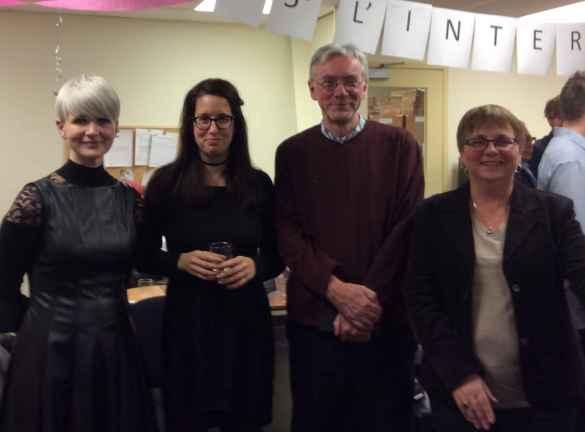 L'équipe de l'Interligne De gauche à droite: Suzanne Richard-Muir, Lisanne Rheault-Leblanc, Henri Lessard et Rachel Carrière.