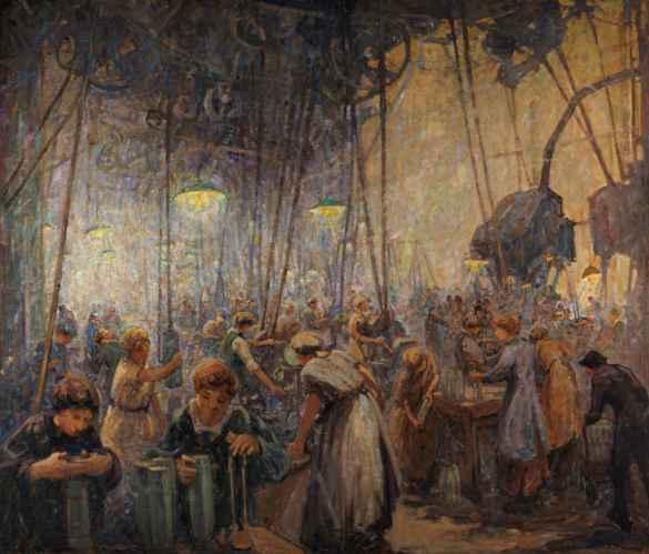 Femmes fabriquant des obus, de Mabel May.