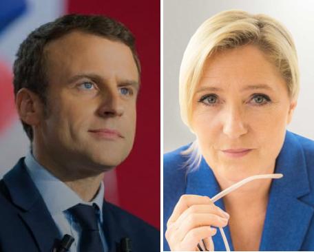 Emmanuel Macon et Marine Le Pen