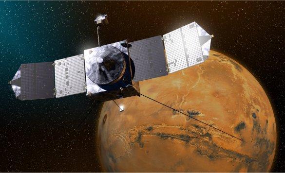 Maven et Mars (Illustration: NASA)