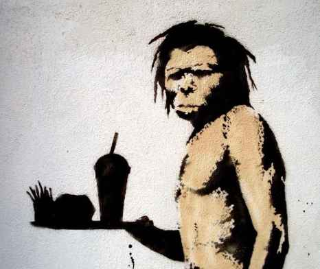 L'homme des cavernes de Banksy, murale à Los Angeles (Photo: Lord Jim - Flickr)