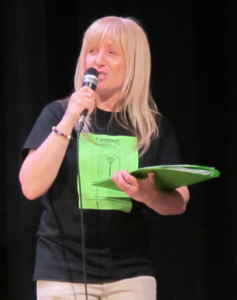 L'enseignante et metteure en scène Lucie Fortin.