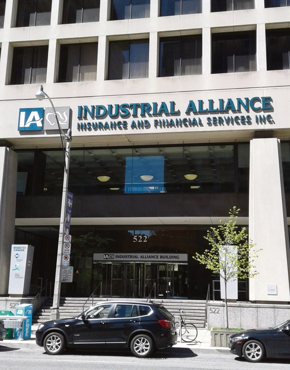 L'édifice de l'Industrielle Alliance à Toronto.