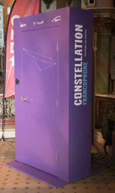 Une des portes qu'on retrouvera sur le site de la Franco-Fête et qui permettra de voir des festivaliers d'autres villes du pays.