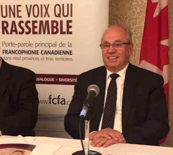 Jean Johnson, le nouveau président de la Fédération des communautés francophones et acadienne du Canada.