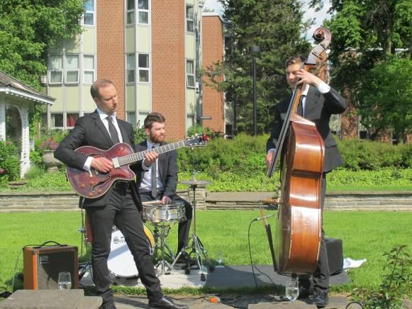 Les musiciens de la réception au manoir Glendon.