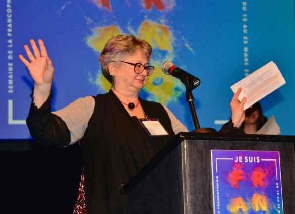 Lise-Marie Baudry lors du lancement de la Semaine de la francophonie en mars dernier.