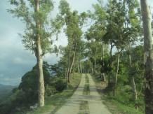 La route vers Vallue.