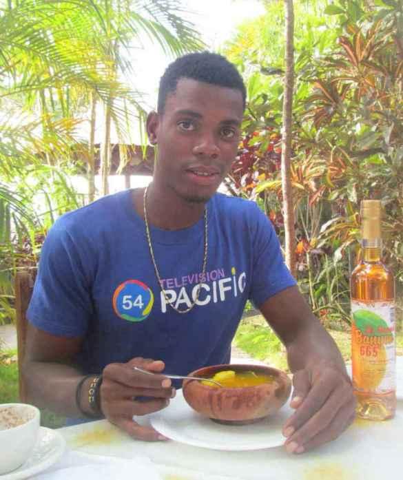 Soupe de giraumon traditionnelle haïtienne à la Villa Ban Yen.