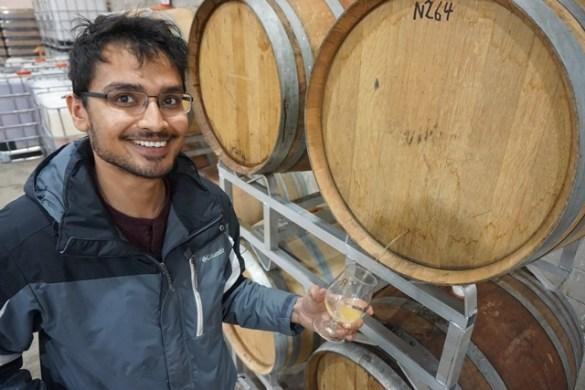 Tariq Ahmed, fondateur et seul employé de Revel Ciders.