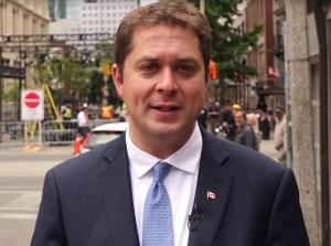 Le chef conservateur Andrew Scheer.