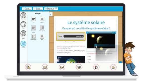 Un des portails de Beneylu, qui produit et diffuse des ressources numériques éducatives en français, anglais et espagnol.