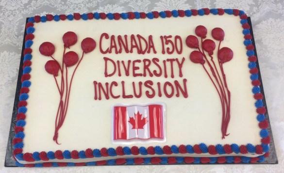 Le gâteau du 150e.