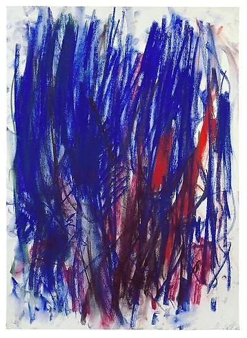 Joan Mitchell, Tilleul, 1977, pastel sur papier, 48,9x35.6 cm.