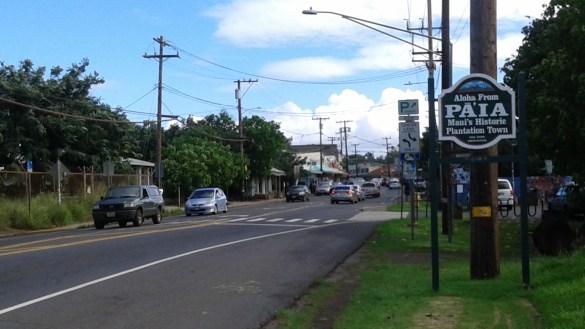 À l'entrée de la ville de Paia. (Photo: Sandra Dorelas)