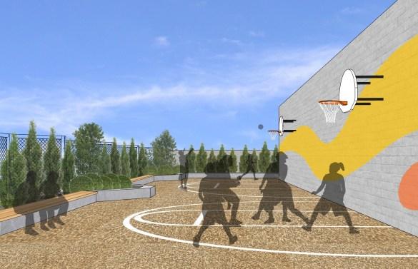 Viamonde propose une aire de jeux sur le toit.