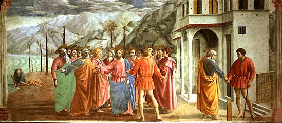 Masaccio, Le paiement du tribut, 1424-1427. Internet et p. 10.