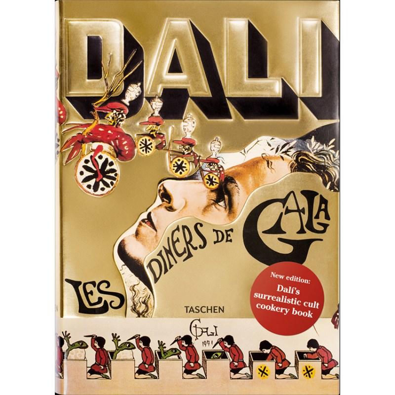 DALi. Les dîners de Gala. Éditions Taschen, 2017, relié, 22,4 x 3,5 x 31,3 cm, 321 pages toutes illustrées.