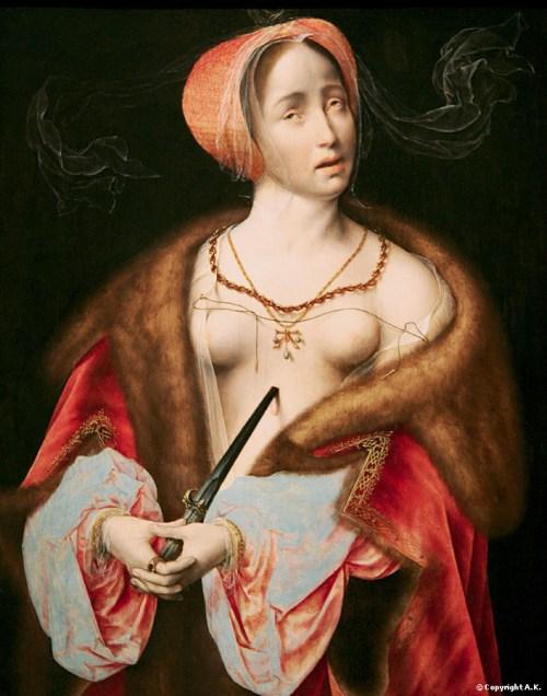 Lucrèce se poignardant par Joose van Cleve, vers 1525 (p. 297)