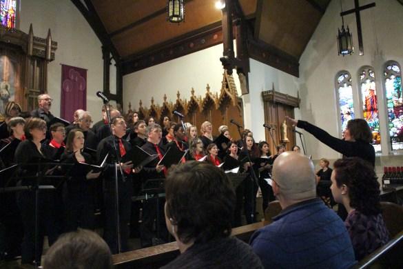 Les Voix du coeur à l'église du Sacré-Coeur l'an dernier.