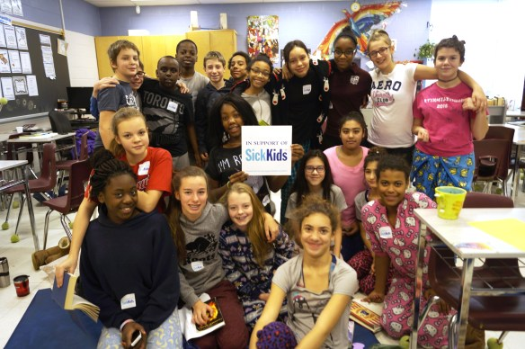 Des participants au lectur-o-thon de l'an dernier à l'école Saint-Charles-Garnier.