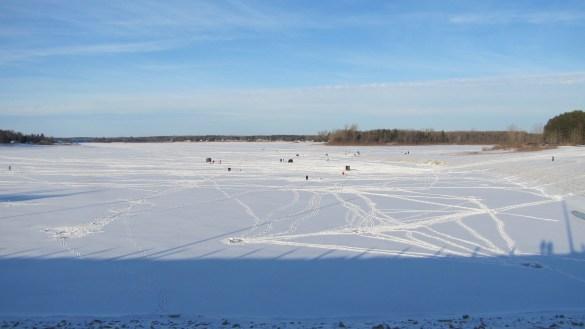 Le lac Belwood à Elora.