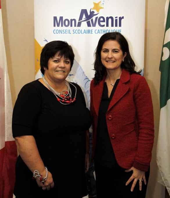 Melinda Chartrand et Geneviève Grenier réélues présidente et vice-présidente du Conseil scolaire catholique MonAvenir.