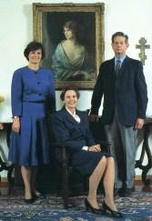 La princesse Margareta, la reine Anne et le roi Michel de Roumanie au début des années 1990.