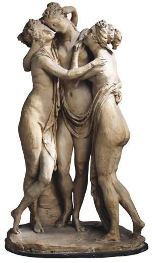 Les trois Grâces, esquisse, terre cuite de Canova Antonio (1810), Internet et page 145.