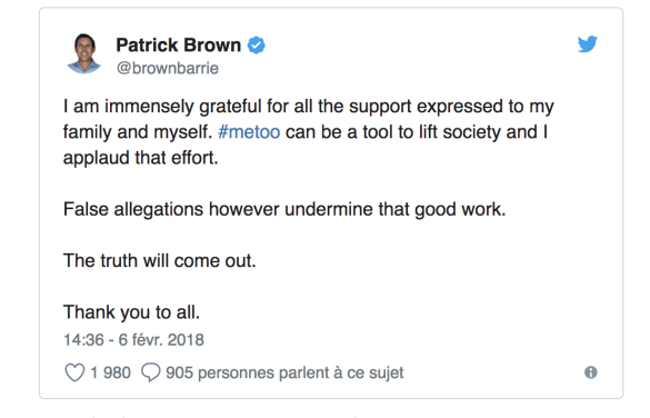 #MoiAussi Patrick Brown