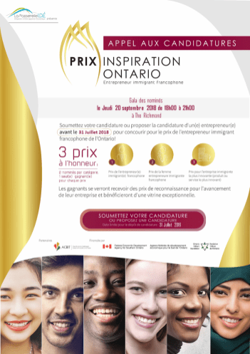La Passerelle a créé un Prix Inspiration Ontario pour les entrepreneurs immigrants francophones.