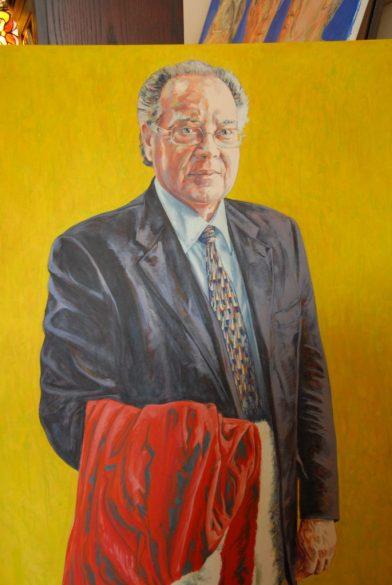 Portrait de Michel Bastarache, réalisé par le peintre Christan Nicholson