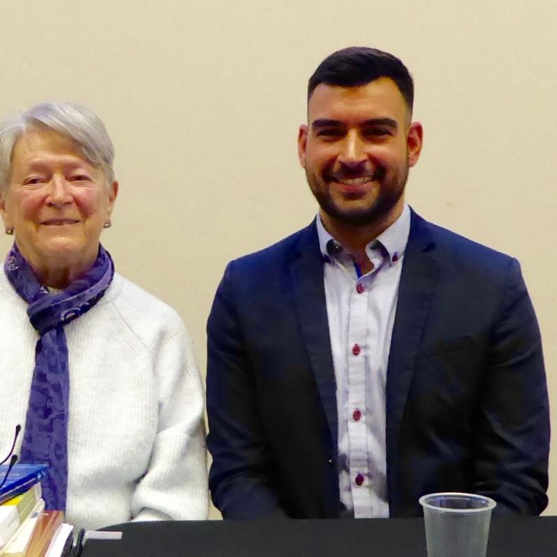 Pour souligner le 110e anniversaire de l'ACFO-AFO, une table ronde animée par Marie-Claude Thifault a eu lieu le 21 janvier dernier à l'Université d'Ottawa. Les panélistes étaient Rolande Faucher, présidente de l'ACFO de 1988 à 1990, Philippe Orfali, du Journal de Montréal et Martin Pâquet, de l'Université Laval. Photo : Anne Mauthès (CRCCF)