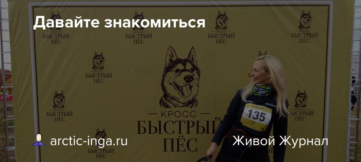 Давайте знакомиться: arctic-inga.ru — LiveJournal