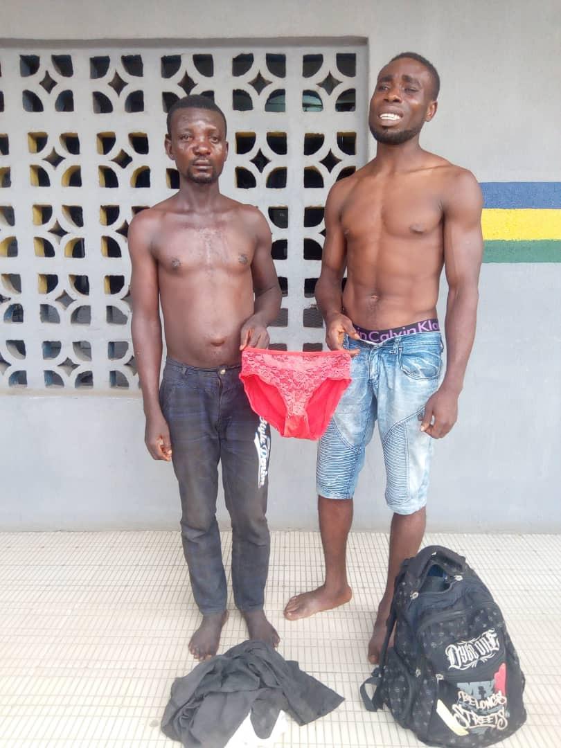 2 voleurs de slips de femmes arrêtés par la police (photo)